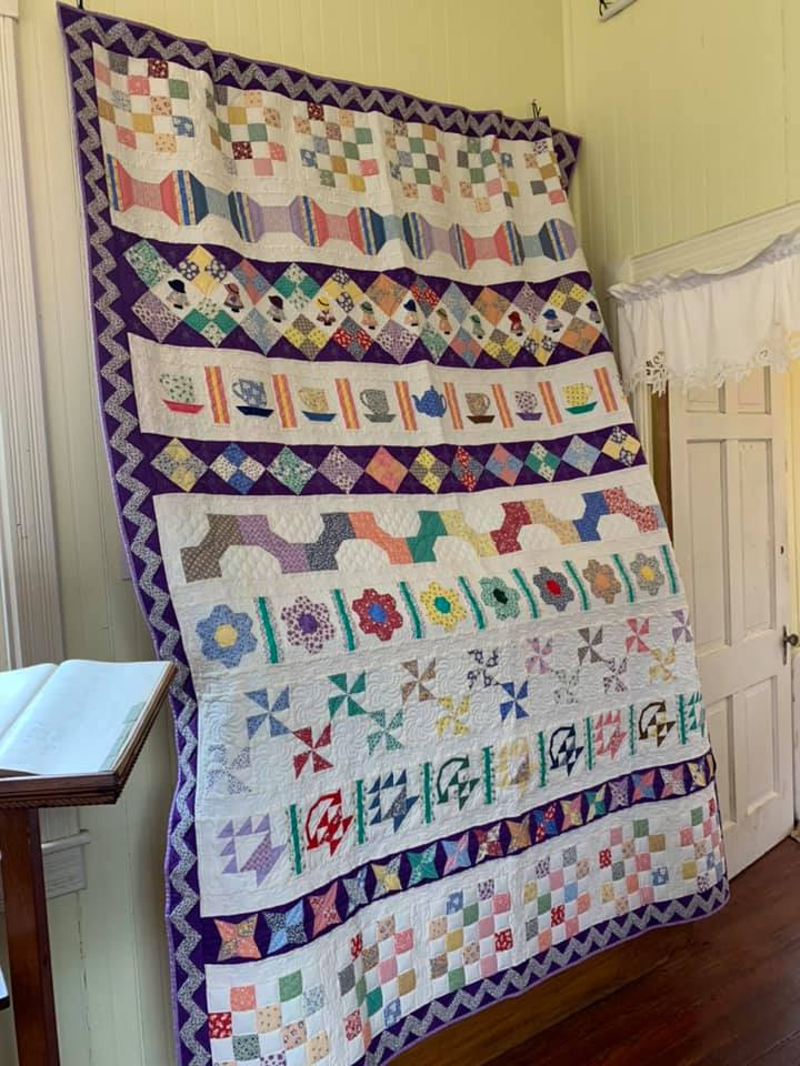 Quilt hanging in the Graham Building